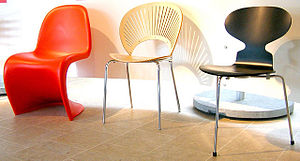 English: Selection of Danish Modern chairs at ...