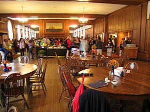 Dining hall interior, Choate Rosemary Hall, Wa...