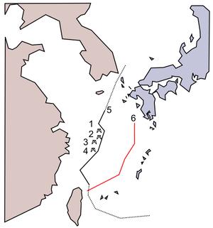 English: East China Sea natural gas field prob...