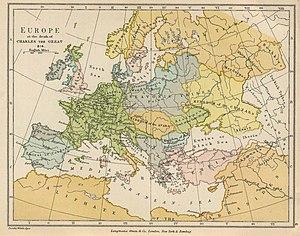 English: Europe in 814.