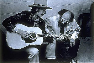 Portrait of Allen Ginsberg and Bob Dylan by El...