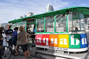 English: Aquabus, Granville Island, Vancouver, BC.