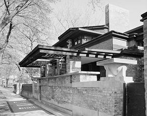 English: Frank Lloyd Wright home in Oak Park, ...