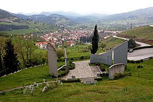 Kalavryta, view from the memorial Deutsch: Kal...