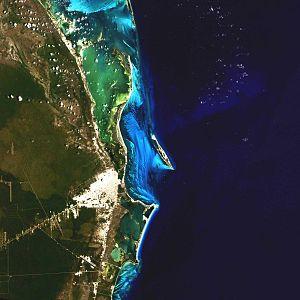 Español: Imagen satelital de Cancún.
