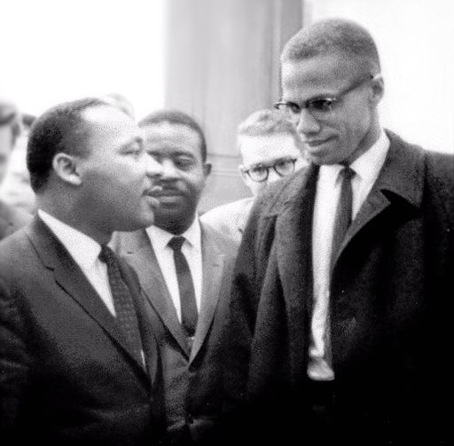 MartinLutherKingMalcolmX march 1964 cropped retouched