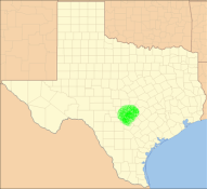 Approximate Locator Map of Texas Hill Country,...