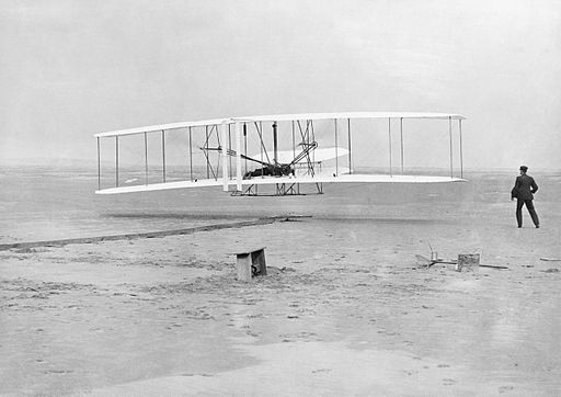 The Wright Brothers; first powered flight HU98267