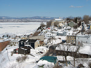 City of Lévis on Saint Lawrence river, provinc...