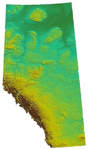 Relief of Alberta, Canada