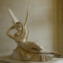 Psyche Revived by Cupid's Kiss neoclassical marble sculpture by Antonio Canova in the Louvre Museum