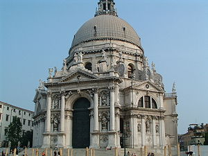 The Basilica di Santa Maria della Salute from ...