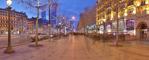 Champs Elysees Paris Wikimedia Commons