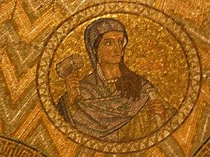 Mozaic of Yael at the Dormition Church