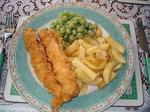 Image:Fish, chips & mushy peas