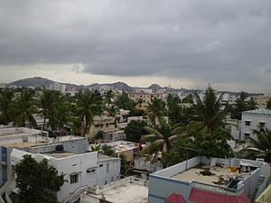 Skyline of Malkajgiri, Hyderabad, India
