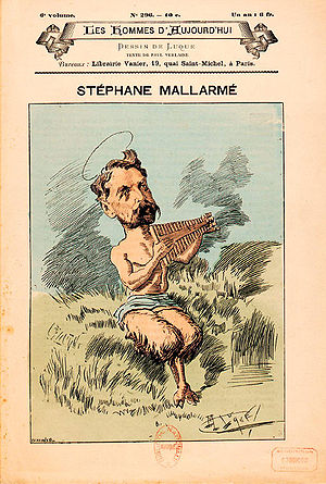 Stéphane Mallarmé as Pan. Published in Les hom...