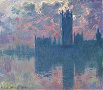 Houses of Parliament, Sunset, 1902, by Claude ...