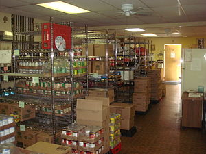 Our Father's House Soup Kitchen pantry