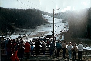 Main ski slope at Ober Gatlinburg resort, Tenn...