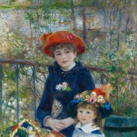Two Sisters or On the Terrace by Pierre-Auguste Renoir