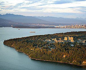 English: An aerial view of the UBC campus.