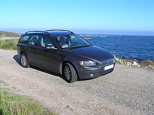 Volvo V50, 2 litres, diesel car at the sea-side