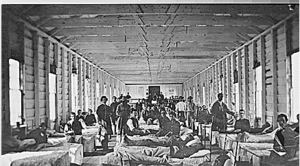 Wounded in hospital (American Civil War)
