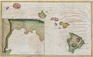 1785 Cook - Bligh Map of Hawaii - Geographicus...