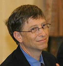 Bill Gates from Seattle, Washington, USA founder of Microsoft is the world's richest man, with a net worth of US$59 billion
