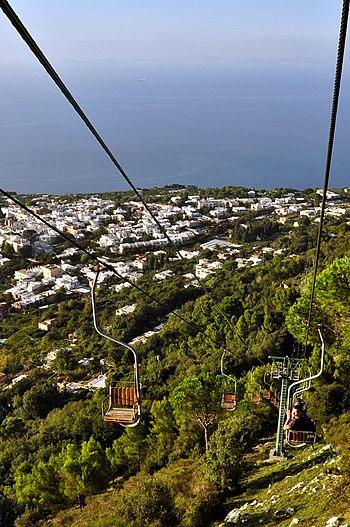 Anacapri chairlift to Monte Solaro