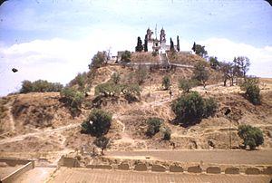 Church and Great Pyramid, Cholula, 1948
