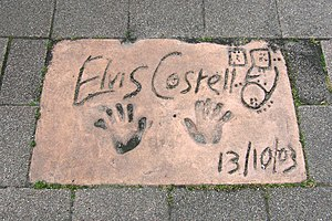 Elvis Costello, on the European Walk of Fame