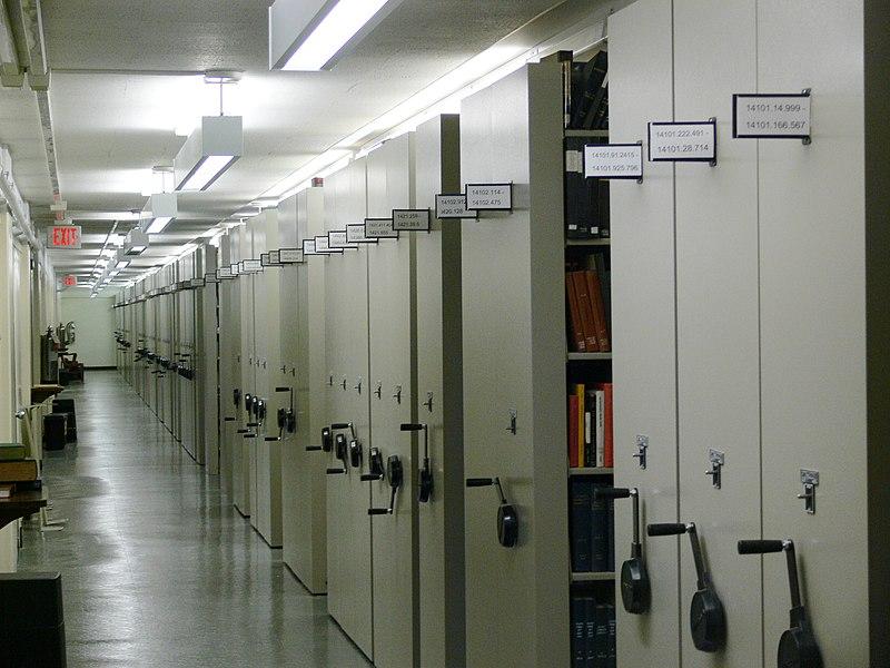 File:Firestone Library Princeton mobile aisle shelving.jpg