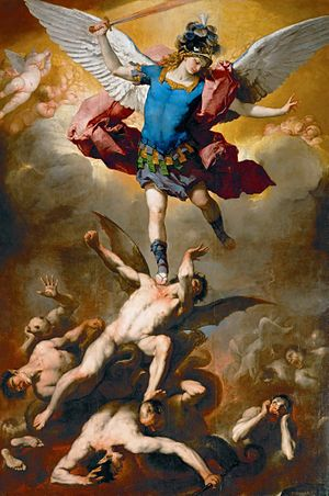 Luca Giordano's painting of St. Michael the Ar...