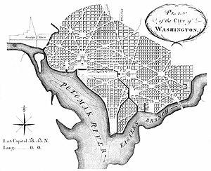 """Plan of the City of Washington,"" Ma..."