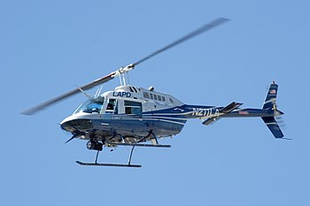 Los Angeles Police Department (LAPD) Bell 206 ...