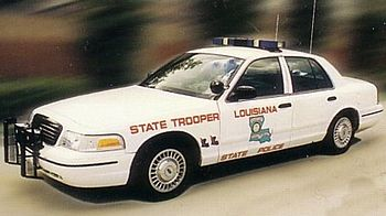 English: Louisiana State Police Crown Victoria...
