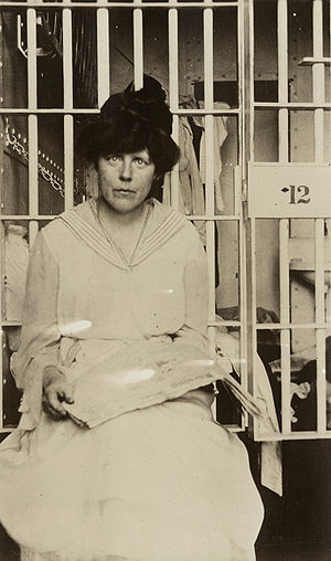 Miss Lucy Burns in Occoquan Workhouse, Washing...