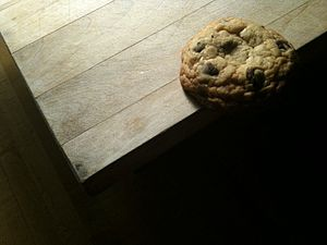Melodramatic chocolate chip cookie.