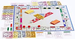 Monopoly board on white bg