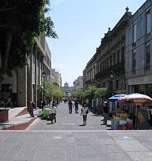 Morelos street, looking towards the Hospicio d...