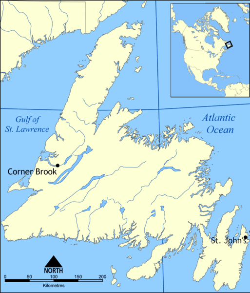 map of Newfoundland