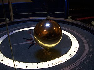 The pendulum clock at the Chicago Museum of Sc...