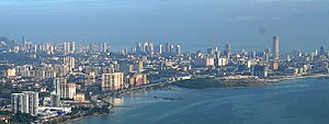 Aerial view image of Penang - Georgetown, pict...