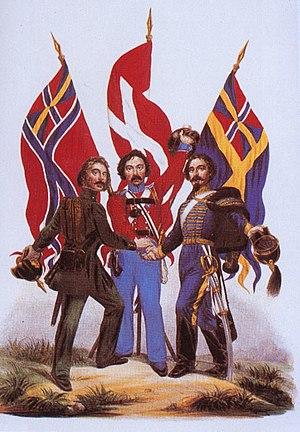 Scandinavism; A 19th-century propaganda image ...