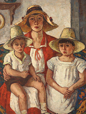 Română: Ştefan Dimitrescu - Mama cu copii.