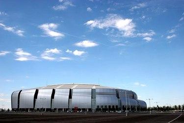 The University of Phoenix Stadium in Glendale,...