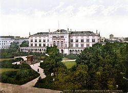 Postal del siglo XIX de la Universidad de Königsberg