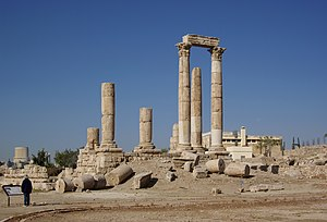 Jordan, Amman, Ruins of the temple of Hercules.